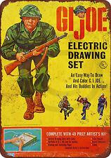 1965 Gi Joe Electric Drawing Set Reproduction Metal Sign tin 8 x 12