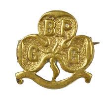 More details for girl guides bp baden powell 1910 promise brass badge