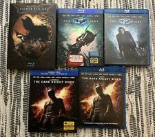 Christopher Nolan Blu-ray Lot Batman Begins Dark Knight Rises Ln Viewed Once