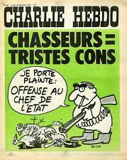 """CHARLIE HEBDO N°96 du 18/9/1972"" REISER : CHASSEURS = TRISTES CONS (POMPIDOU)"