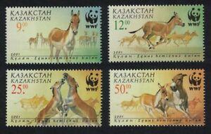 Kazakhstan WWF Kulan Horses Animals Fauna 4v 2001 MNH SG#332-335