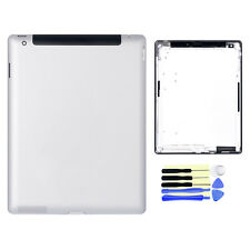 Replace For iPad 3 4G Version A1430 Back Door Battery Case Cover Housing Silver