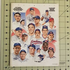 1990 Cleveland Indians MLB Baseball YEARBOOK