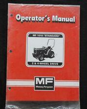 MASSEY FERGUSON 1010 MF1010 2 & 4WD TRACTOR LOADER BACKHOE OPERATORS MANUAL MINT