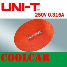 UNI-T 250V 0.315A Fast blow FUSE for UT105 UT30B UT33B UT39A UT601 Multimeter