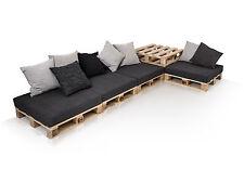 Lounge Ecksofa Palettensofa Paletten Big Sofa Fichte natur inkl. Kissen PALETTI
