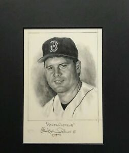 ROGER CLEMENS..Signed Original Artwork  by CHRISTOPHER PALUSO
