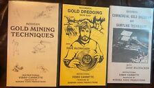 New listing 3 Gold Mining Dredging Vcr Tapes Dave McCracken '49ers Inc.
