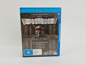 Disney Pirates of the Caribbean 4 Movie Collection Blu-Ray