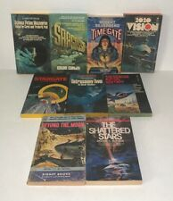 Lot Of 9 Vintage Science Fiction Paperback Books Bundle