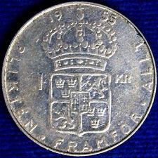 1 CORONA 1955 TS SVEZIA SWEDEN ARGENTO SILVER #7159A