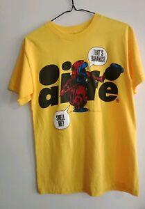 Size S Small Mens Alife Yellow Tshirt Top Shirt Graphic Usa