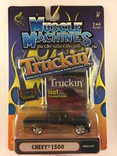 Muscle Machines Truckin' Chevy 1500 Pickup Truck TM03-07 Slammed 1/64 Die-Cast