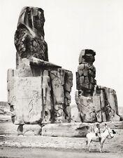 1934 Vintage EGYPT ~ Colossi Of Memnon Statues Horse Photo Art 11x14 ~ HURLIMANN