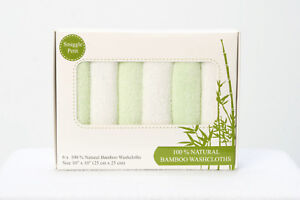 BAMBOO Washcloths – 6x pack Soft 100% Organic Bamboo,Towels, Eco-friendly