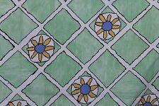 "New listing Jab Anstoetz Geometric Floral Green Yellow Blue Fabric Appx 52"" x 3 Yds Austria"