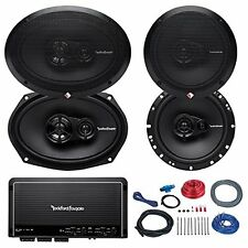 "2x Rockford Fosgate 6.5"" and 2x 6x9"" inch 3-Way Car Coaxial Speaker, Amplifier"