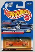 HOT WHEELS 1970 PLYMOUTH BARRACUDA DIE-CAST VEHICLE COLLECTOR #1063 MATTEL 1998