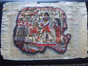 PERGAMENA Papiro Egiziano originale Cm 30 x 20 MOLTO INTERESSANTE VERA OCCASIONE