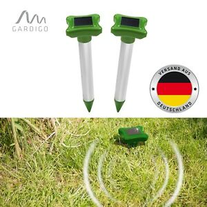 Gardigo Solar Maulwurfabwehr Alu 2er Set Maulwurfschreck Wühlmausvertreiber