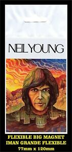 Neil Young The Last Trip to Tulsa FLEXIBLE BIG MAGNET IMÁN GRANDE