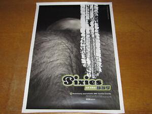 THE PIXIES - AT THE BBC - ORIGINAL UK 4AD PROMO POSTER