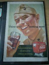 "1951 Vintage Original Coca-Cola Advertisement - ""Thirst Asks Nothing More"""