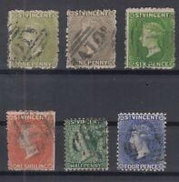 C2925/ BRITISH ST VINCENT – VICTORIA - SG # 29 / 31 – 37 – 42 / 43 USED – CV 295