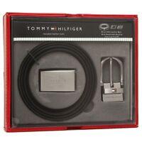 Tommy Hilfiger Men's Set Reversible Leather Belt Removable Buckle 11TL08X012