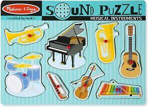 Melissa & Doug - Musical Instruments Sound Puzzle 8pc