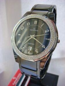 Brand New CANDINO Ceramic Diamond Black Swiss Watch C4353/1