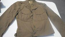 M-1943 Field Jacket Wool OD Post War Made Into A Ike Jacket Size 38 REG 3/1946
