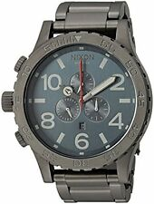 New Authentic Nixon Watch 51-30 Chrono Gunmetal Dark Blue A083-2340 A0832340