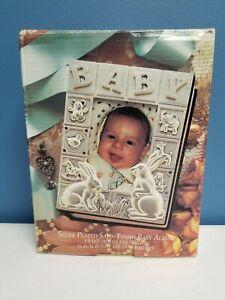 "Silver Plated Satin Finish Baby Photo Album Godinger Silver Art Rabbits 4"" x 6"""