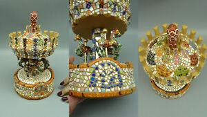 ZC Designer Spieluhr BARCINO Mosaik Pferde Karussell TOP selten mosaic carousel