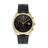 Girard-Perregaux Olimpico Auto 38mm Yellow Gold Mens Strap Watch Chrono 4900