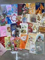 Vintage Greeting Cards Lot- 1950s And Up. 35 Cards- Ephemera- Mixed Lot- B