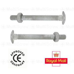 25pcs M12 x 150mm Galvanised Carriage Coach Bolts, Nuts and Washers