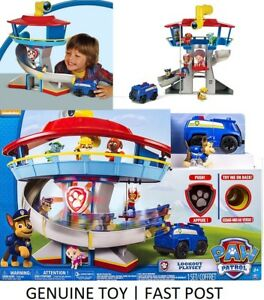 Paw Patrol Lookout Playset Tower + Chase & Vehicle, Lights & Sounds *BRAND NEW*