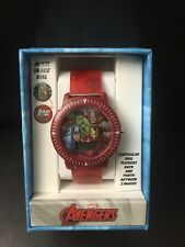 Marvel Avengers Red LENTICULAR DIGITAL WATCH IN GIFT BOX by ACCUTIME NEW