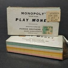 vtg Monopoly money lot of 2 sealed game play replacement paper bills banker NEW