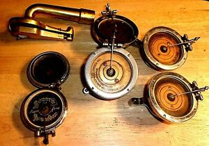 Lot of Seven Antique Victrola Reproducer Parts