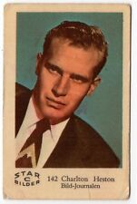1960s Swedish Film Star Card Star Bilder C #142 US Ben-Hur Actor Charlton Heston