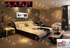 Modern Bedroom Set Headboard LED Lighting Est King Bed Nightstand Dresser USA