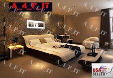 Modern Bedroom Set Headboard LED Lighting Est King Bed Nightstand Dresser USA