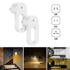 Plug-in LED Night Light Lamp Dusk to Dawn Sensor Hallway Bathroom US UK EU Plug