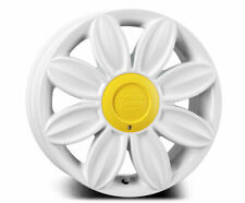VW BEETLE 16x7.0 TANSY Daisy Flower Alloy Wheels x 4 in White - BACK IN STOCK