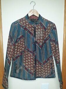 KOOS Van Den Akker Jacket, Vintage Patchwork,  Women's Size 6 Medium