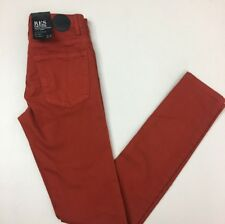 Kitty Stretch Skinny Jeans by RES Denim.Mid to High Rise Red (Burned Safron) 24