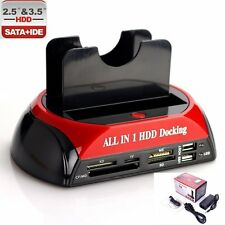 "Dual 2.5"" 3.5"" IDE SATA HDD Hard Drive Disk Clone Holder Dock Docking Station"